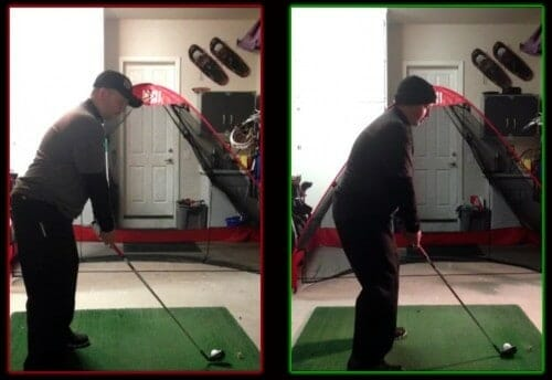 Side by side comparison of swing setep