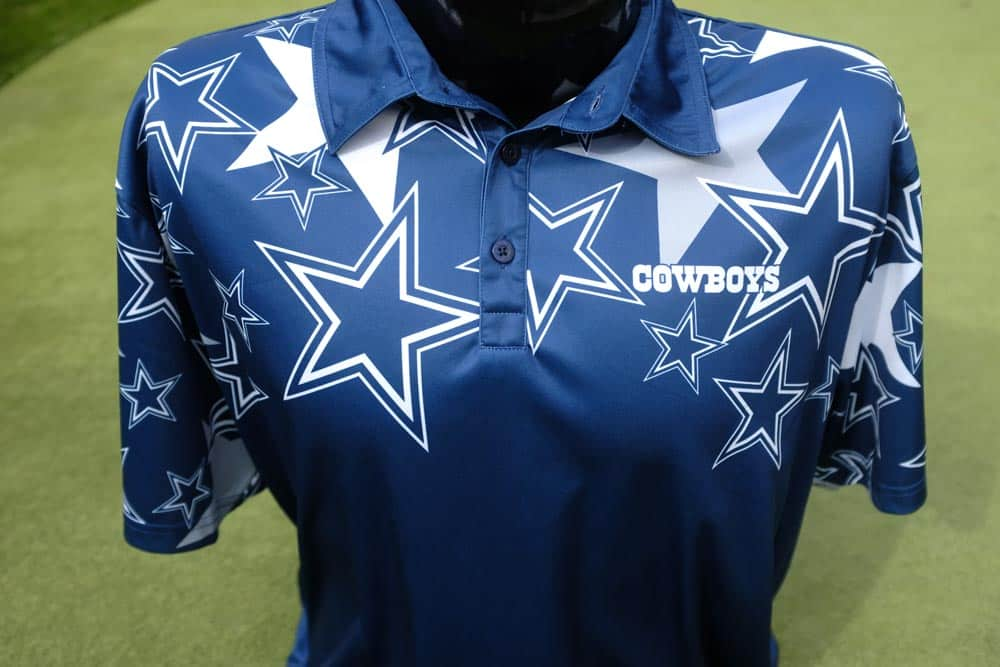 Loudmouth Golf Dallas Cowboys Fancy Polo  af4e3388b
