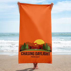 Chasing Daylight Beach Towel