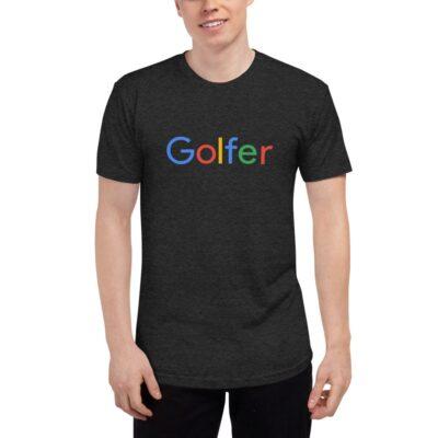 Golfer Unisex Tri-Blend Track Shirt